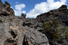 Vulcão extinto o domicílio do diabo no parque nacional Pali Aike no sul do Chile imagens de stock royalty free
