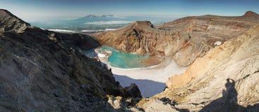 Vulcão Goreli Imagem de Stock Royalty Free