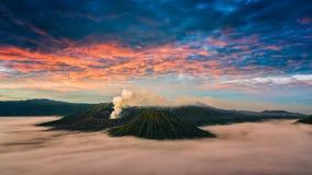 Vulcão Gunung Bromo de Bromo da montagem Fotografia de Stock Royalty Free