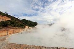 Vulcão Indonésia da lama do enxôfre imagens de stock royalty free