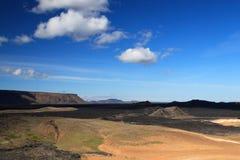 Vulcão Krafla em Islândia.   Fotos de Stock Royalty Free