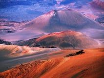 Vulcão Maui Havaí de Haleakala Fotografia de Stock