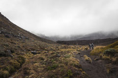 Vulcão 2291mt de Ngauruhoe, parque nacional de Tongariro, islan norte imagens de stock royalty free