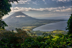Vulcão Nicarágua de Concepción Imagens de Stock Royalty Free