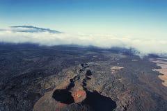 Vulcão no console de Havaí Imagem de Stock