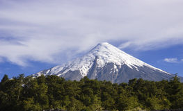 Vulcão Osorno, o Chile. foto de stock