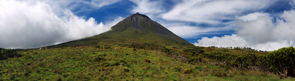 Vulcão Pico, Açores - panorama Imagem de Stock Royalty Free