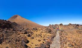 Vulcão Teide na ilha de Tenerife - Spain amarelo Fotografia de Stock