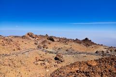 Vulcão Teide no console de Tenerife - Spain amarelo Imagens de Stock Royalty Free