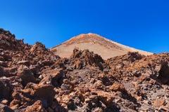 Vulcão Teide no console de Tenerife - Spain amarelo Imagem de Stock Royalty Free