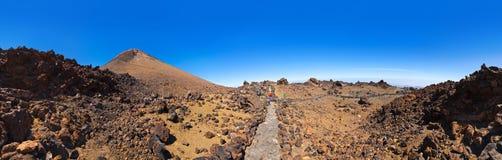 Vulcão Teide no console de Tenerife - Spain amarelo Foto de Stock Royalty Free