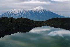 Vulcão Tolbashic em Kamchatka Fotografia de Stock