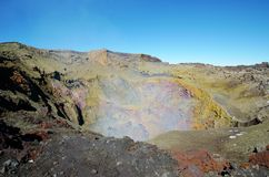 Vulcão Villarrica do passeio na montanha, Pucon o Chile fotos de stock