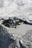 Vulcões da lama Fotos de Stock