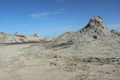 Vulcões da lama de Qobustan Fotografia de Stock