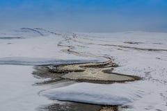 Vulcões da lama em Buzau, Roménia Fotos de Stock