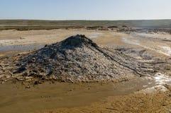 Vulcões da lama no estepe Imagens de Stock
