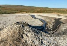 Vulcões da lama no estepe Imagem de Stock Royalty Free