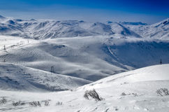 Vulcões da península de Kamchatka, Rússia. Fotos de Stock Royalty Free