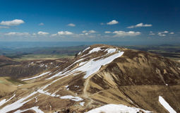 Vulcões das montanhas Foto de Stock
