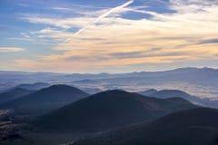 Vulcões de Auvergne, França Foto de Stock