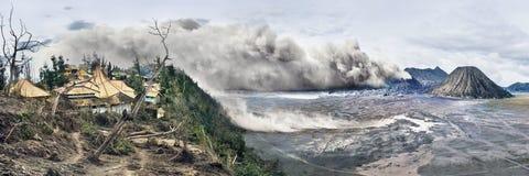 Vulcões do parque nacional de Bromo, Indonésia imagens de stock royalty free