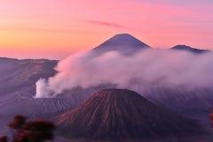 Vulcões do parque nacional de Bromo, Java Imagem de Stock