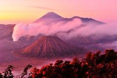 Vulcões do parque nacional de Bromo, Java Fotografia de Stock Royalty Free