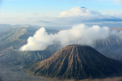 Vulcões do parque nacional de Bromo, Java Foto de Stock