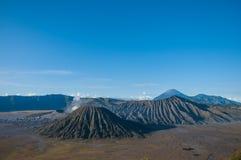 Vulcões do parque nacional de Bromo, Java, Indonésia fotografia de stock royalty free