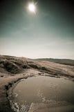 Vulcões em Buzau, Romania da lama Imagens de Stock Royalty Free