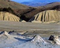 Vulcões enlameados fotografia de stock royalty free