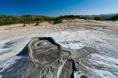 Vulcões enlameados de Romania imagens de stock royalty free