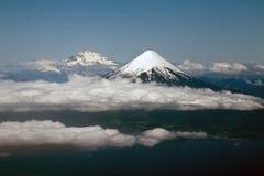 Vulcões no Chile Osorno e em Puyehue Fotos de Stock