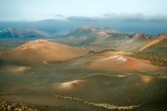 Vulcões no nacional de Timanfaya fotos de stock