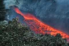 vulcan的熔岩 免版税库存照片