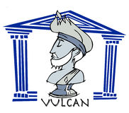 Vulcan,  antique god Stock Images