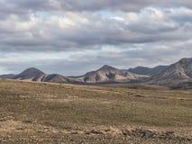 Vulcan bergskedja på kanariefågelön Fotografering för Bildbyråer