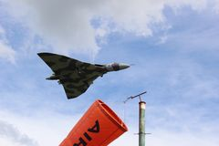 Vulcan. Bomber flight Royalty Free Stock Images