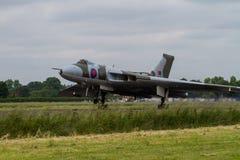 Vulcan Bomber in Flight Royalty Free Stock Photo
