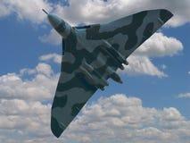 Vulcan-Bomber im Flug Lizenzfreie Stockfotografie