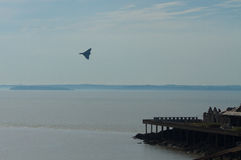 Vulcan bomber used by the British RAF at Birnbeck Pier Royalty Free Stock Photo
