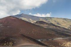 vulcan etna Royaltyfria Bilder