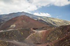 vulcan etna Royaltyfri Foto