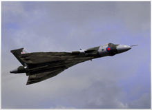 Vulcan in flight Royalty Free Stock Image