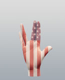 Vulcan Greeting USA. Gesture Hand Royalty Free Stock Image