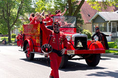 Vulcan Krewe Waves at Parade Royalty Free Stock Photo