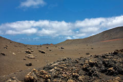 Vulcan landscape in Lanzarote island Royalty Free Stock Image