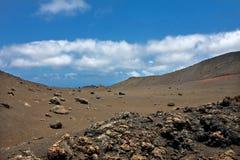 Vulcan landscape in Lanzarote island Royalty Free Stock Image