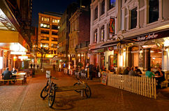 Vulcan Lane in Auckland Downtown at night Royalty Free Stock Photography